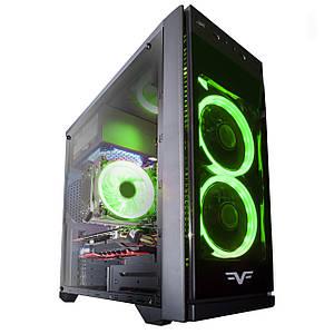 Корпус компьютерный Frime GRANDMASTER GREEN LED