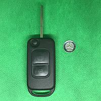 Корпус выкидного авто ключа MERCEDES W168, A-class (мерседес) 2 - кнопки, лезвие HU64