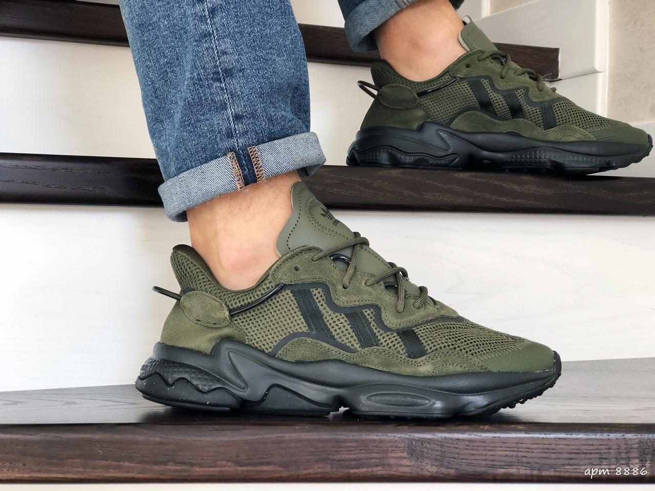 Кроссовки мужские Adidas Ozweego TR,темно зеленые