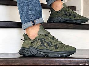 Кроссовки мужские Adidas Ozweego TR,темно зеленые, фото 2