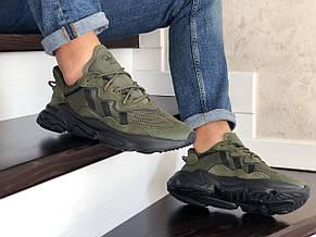 Кроссовки мужские Adidas Ozweego TR,темно зеленые, фото 3