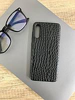 Чехол для Samsung A70 под кожу крокодила, Black