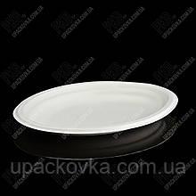 Тарелка-Овальная ЭКО из сахарного тростника 318х251х25. 125 шт/уп FOP 32