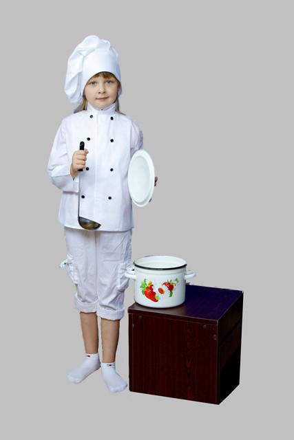 """Костюм """"Шеф-кухар Люкс"""" (кітель, ковпак, бриджі), білий. АКЦІЯ -25% до 03.04.20"""