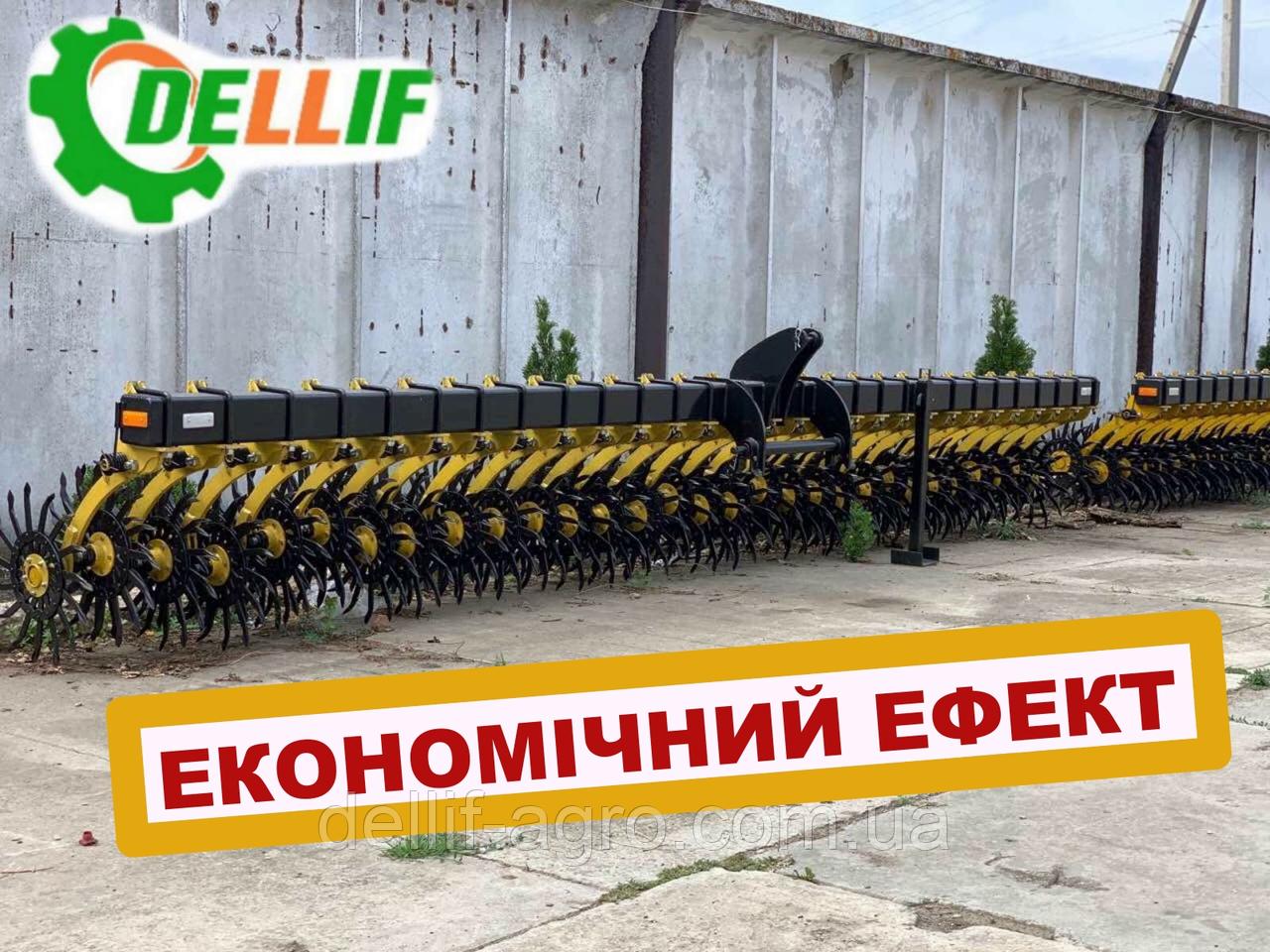 Борона ротационная мотыга Dellif  Белла 6 м 25 рабочих органов  Инновация