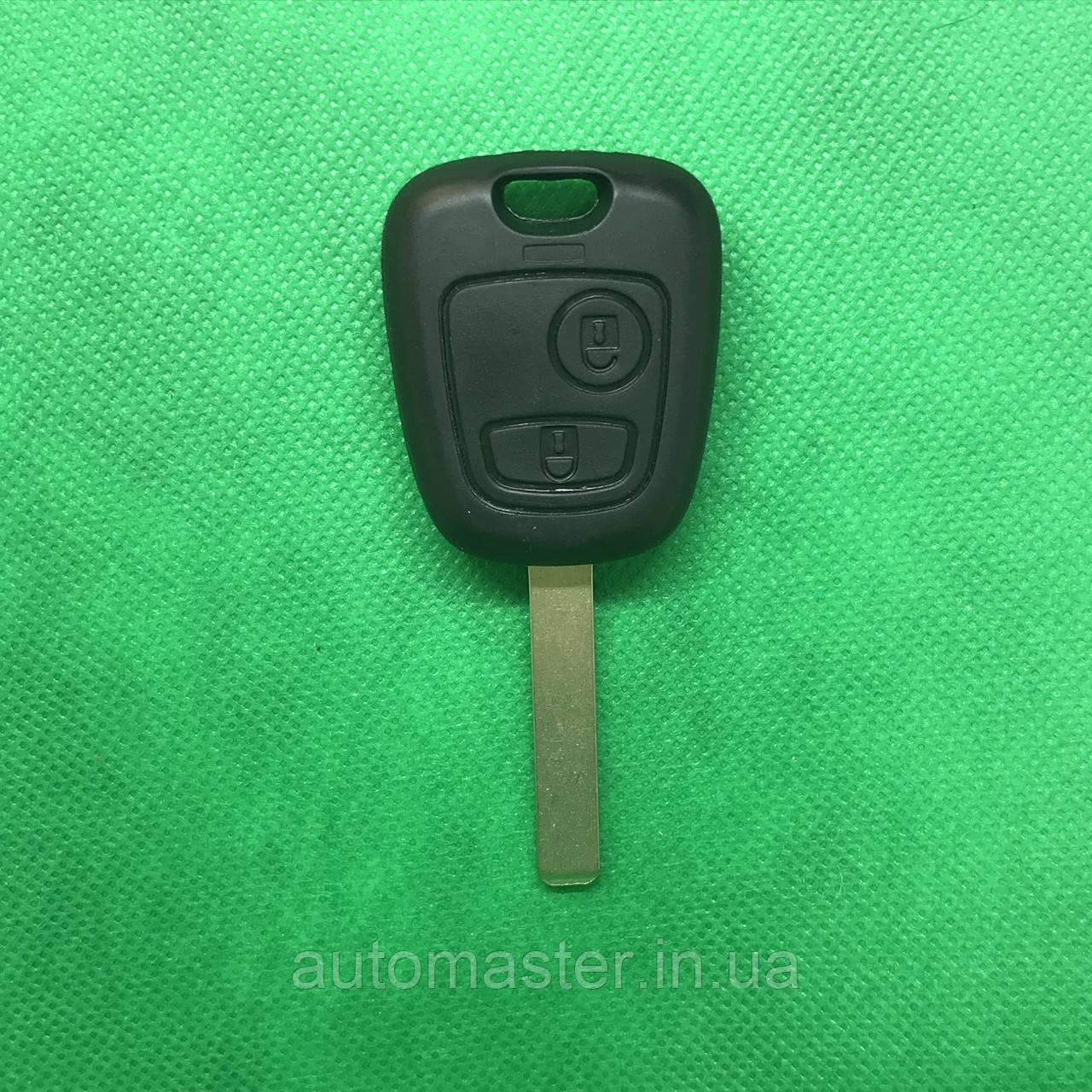 Корпус авто ключа для PEUGEOT (Пежо) 107, 2 - кнопки, лезвие VA2