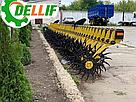 Борона мотыга ротационная Dellif  Белла 3 м 15 рабочих органов Инновация, фото 5