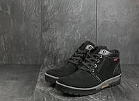 Мужские ботинки нубуковые зимние черные Norman Z158, фото 1