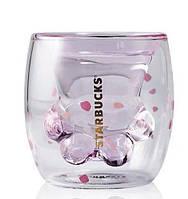 Стеклянная чашка с двойными стенками Starbucks Кошачья лапа 175 мл