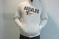 Мужская толстовка Paidiao (4822) белая с капюшоном код 146в