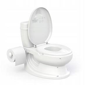 Детский горшок в виде унитаза со звуком слива и креплением для туалетной бумаги, фото 2