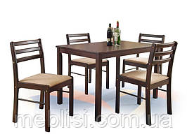 Столовый комплект NEW STARTER ( стол+4 кресла) (Halmar)