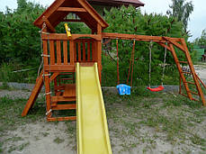 """Ігровий дитячий майданчик """"Мульти"""" з гіркою і гойдалками, фото 3"""