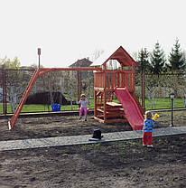 """Игровая детская площадка """"Мульти"""" с горкой и качелями, фото 3"""