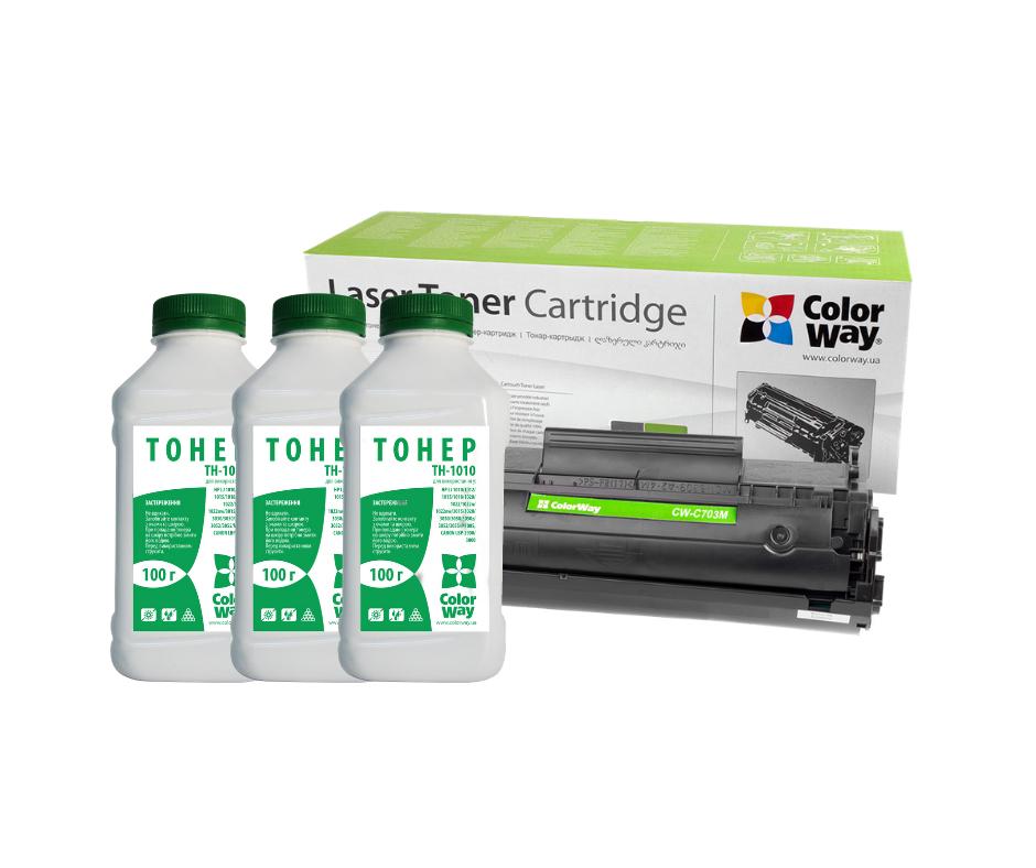 Картридж Canon LBP-2900/3000 CW + 3 Тонера TH-1010