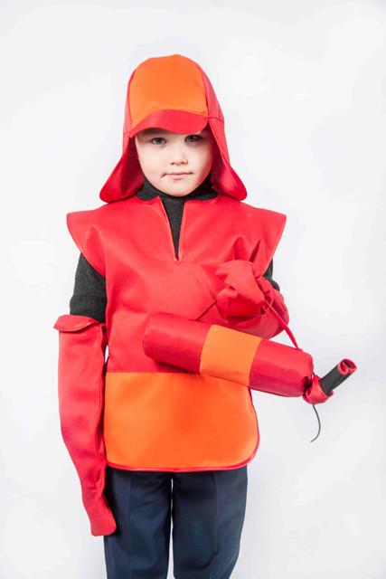 Костюм Пожарный (шлем, жилет, рукавички, огнетушитель) 3-7 л. (012)