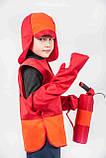 Костюм Пожарный (шлем, жилет, рукавички, огнетушитель) 3-7 л. (012), фото 2