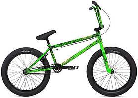 "Велосипед BMX 20"" Stolen CREATURE (2020) toxic green splatter"