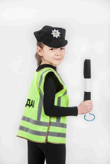Костюм Инспектор ГАИ (жилет, головной убор, жезл) 3-7 л. (031)