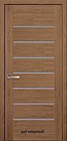 """Межкомнатные двери Мода ПВХ Ultra Леона """"Новый Стиль"""" со стеклом сатин 60, 70, 80, 90 см"""