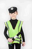 Костюм Инспектор ГАИ (жилет, головной убор, жезл) 3-7 л. (031), фото 2