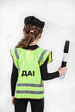 Костюм Инспектор ГАИ (жилет, головной убор, жезл) 3-7 л. (031), фото 3