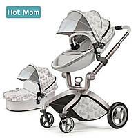 Оригинальная детская коляска Hot Mom 2в1 Leaf  Прогулка и люлька