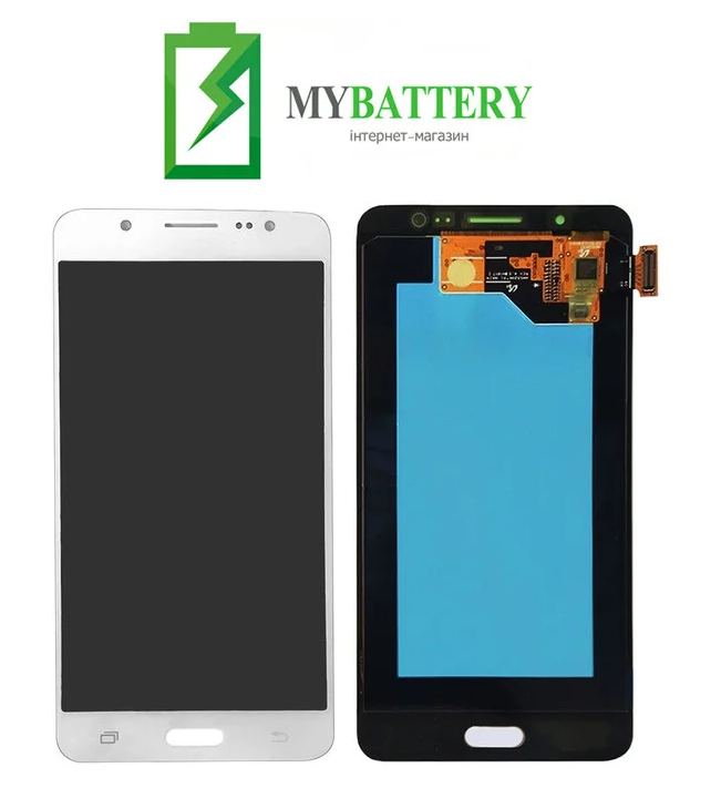 Дисплей (LCD) Samsung GH97-18792C/ GH97-19466C J510 Galaxy J5 (2016) с сенсором белый сервисный