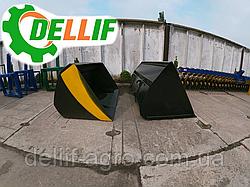 Ківш 1.6 м на навантажувачі Dellif для трактора МТЗ,ЮМЗ,Т-40
