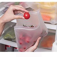 Многоразовый большой силиконовый пакет для хранения продуктов в холодильнике
