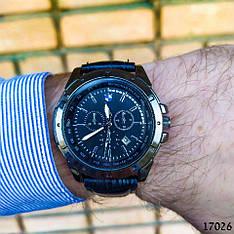 Часы мужские в стиле BMW. Мужские наручные часы черного цвета. Часы с черным циферблатом Годинник чоловічий
