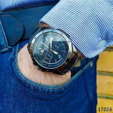 Годинники чоловічі в стилі BMW. Чоловічі наручні годинники чорного кольору. Годинник з чорним циферблатом Годинник чоловічий, фото 2