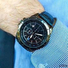 Годинники чоловічі в стилі BMW. Чоловічі наручні годинники чорного кольору. Годинник з чорним циферблатом Годинник чоловічий, фото 3