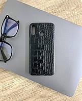 Чехол для Samsung A40 под кожу крокодила, Black