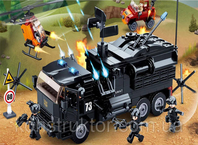"""Конструктор SLUBAN M38-B0773 """"Мобильный полицейский фургон SWAT"""" 759 деталей"""