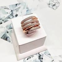 Кольцо из серебра с позолотой Меланж