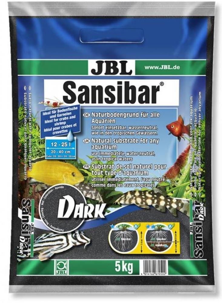 Пісок JBL Sansibar Dark 0.2-0.5 мм 5 кг чорний, 67050