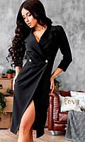 S, M, L / Вишукане жіноче чорне плаття на запах