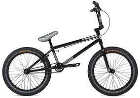 "Велосипед BMX 20"" Stolen OVERLORD (2020) black w/ reflective grey"