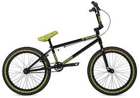 "Велосипед BMX 20"" Stolen OVERLORD (2020) black w/ reflective yellow"