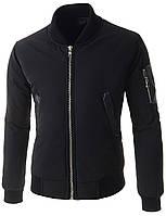 Мужской Бомбер (куртка) с декорированный элементами с кожи S,M,L Розница