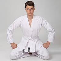 Кимоно для каратэ MATSA, хлопок, плотность 240г на м2, р-р 000-6, рост 110-190см., белый (МА-0016)