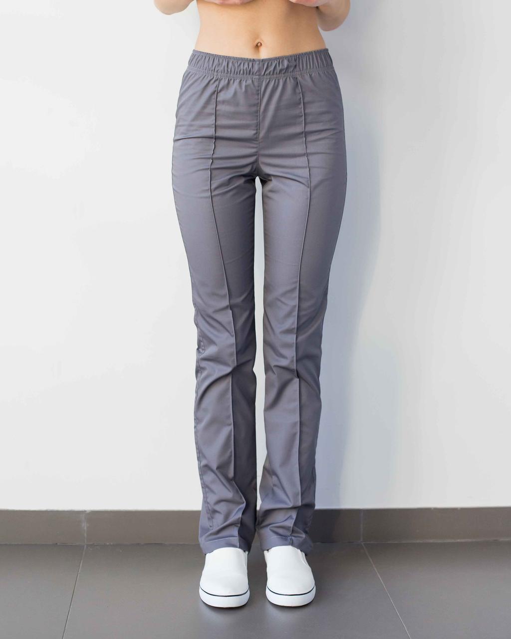 Медицинские женские брюки темно-серые