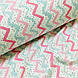 Фланелевая ткань зигзаг мятно-розовый с черными крапинками на белом (шир. 2,4 м) ОТРЕЗ (0.35*2.4), фото 4