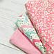 Фланелевая ткань зигзаг мятно-розовый с черными крапинками на белом (шир. 2,4 м) ОТРЕЗ (0.35*2.4), фото 5