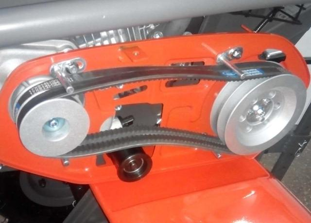 Ременная передача мотоблока Хускварна TF 338 (ременной мотоблок)