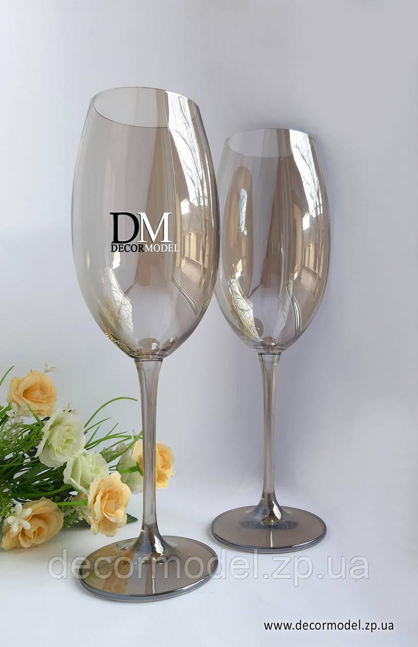 Набор бокалов для вина Bohemia Fuliсa 400 ml (цвет: ХРОМ ПРОЗРАЧНЫЙ)
