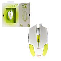 Мышь проводная E-BLUE - Cobra Type S/6D USB белый/зеленый