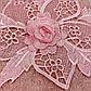 Набор махровых полотенец «Цветочное кружево» из 2шт. лицевое и банное , пудра, фото 3