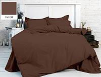 Однотонное постельное белье MirSon бязь Chocolate perla 19-1217 Полуторный комплект